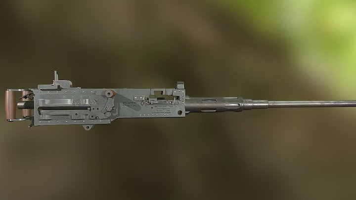 M2 Browning Colt .50 Ma Deuce 3D Model