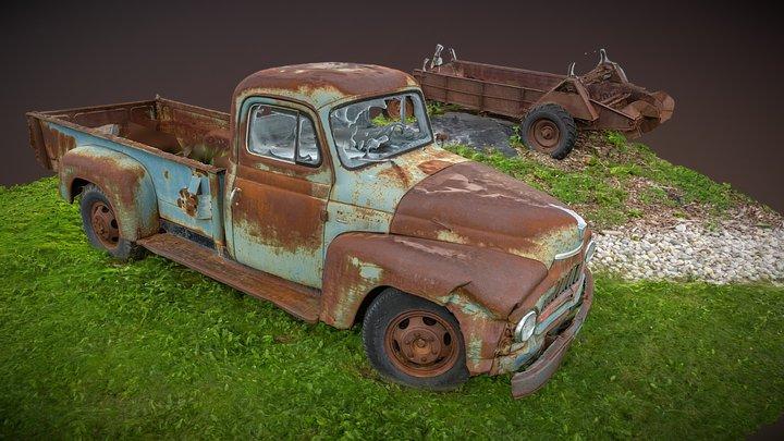 Rusty Car - RC 3D Model