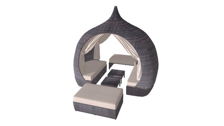 Majorca Daybed Brown & Beige - 703603 3D Model