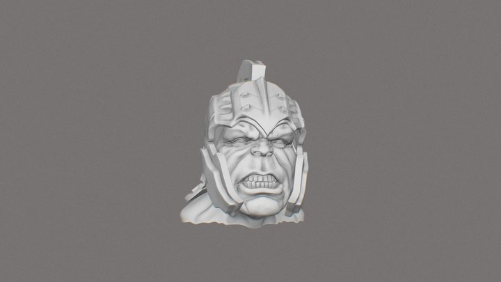 mark ruffalo hulk bust from thor ragnarok 3D Model