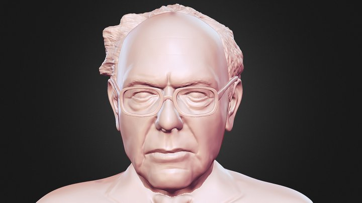 Bernie Sanders 3D printable portrait bust 3D Model