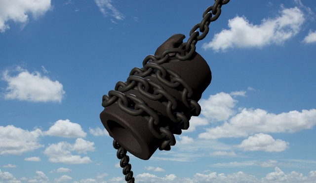 Canadian Rig Drill Chain and Jacket 3D Model
