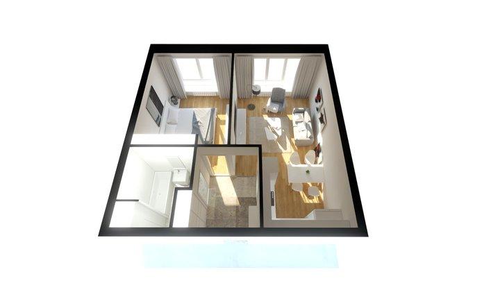 One Bedroom Apartment 3D Model