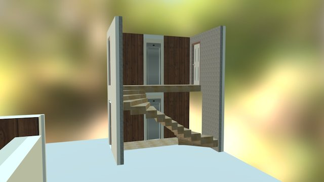 Cage Escalier 3D Model