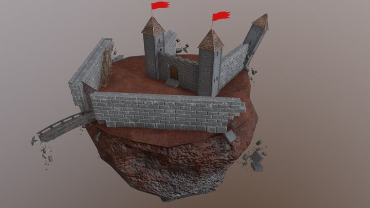 Crumbling Castle 3D Model