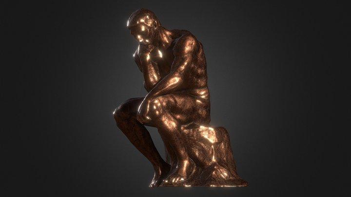 Thinker by Rodin (Mobile Friendly) 3D Model
