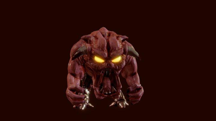 Pinky Demon 3D Model