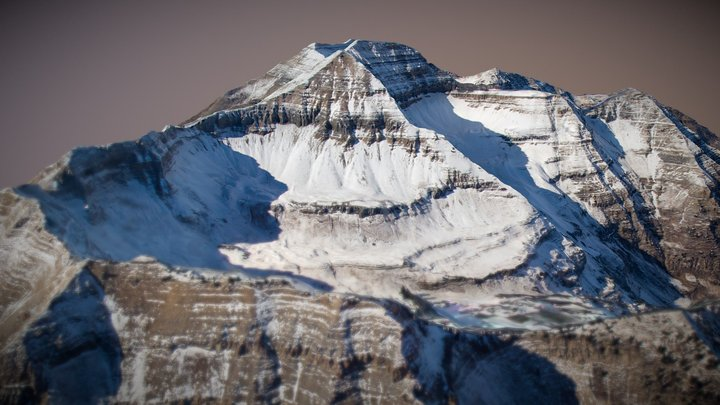 Mount Timpanogos using only 50 photos 3D Model