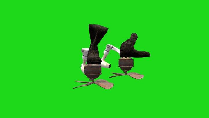 Zero Footprint Boots 3D Model