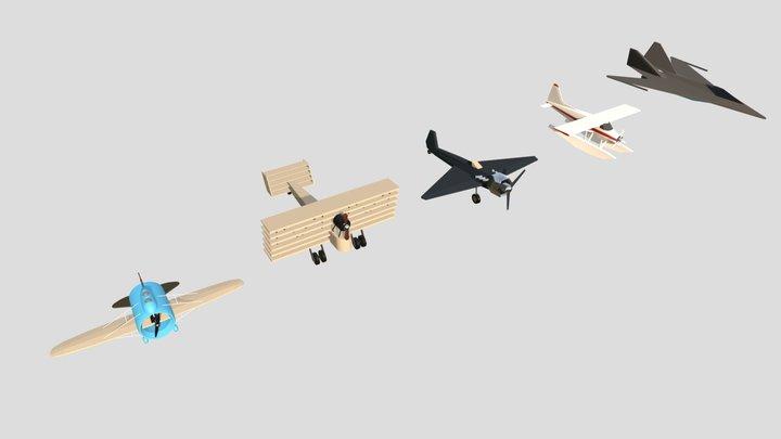 Planes Drafts 3D Model
