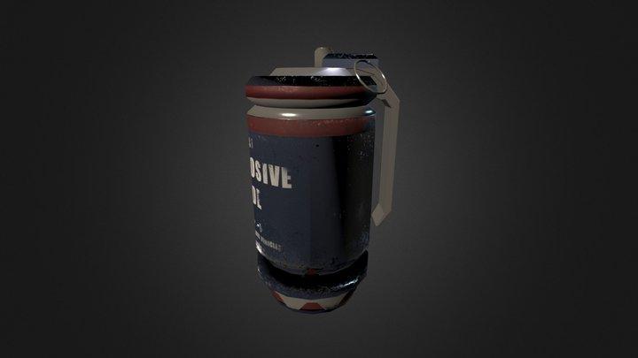 Frag Grenade Mesh 3D Model
