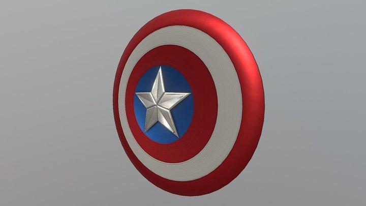 Captain America - Shield v2 3D Model