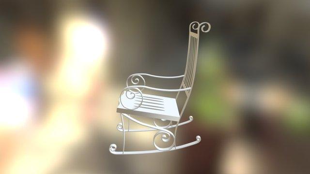 Chair/Rocker (made with splines) 3D Model