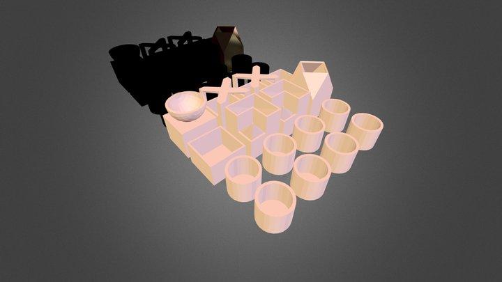 Micro Planter Chess Set 3D Model