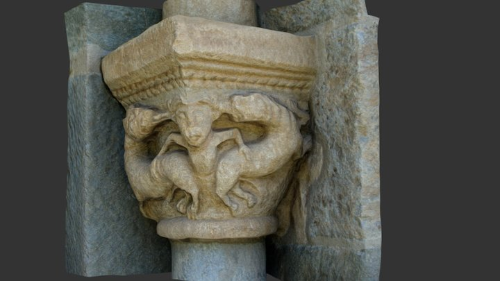 Assumpció de Coll. Capitel derecho 3D Model