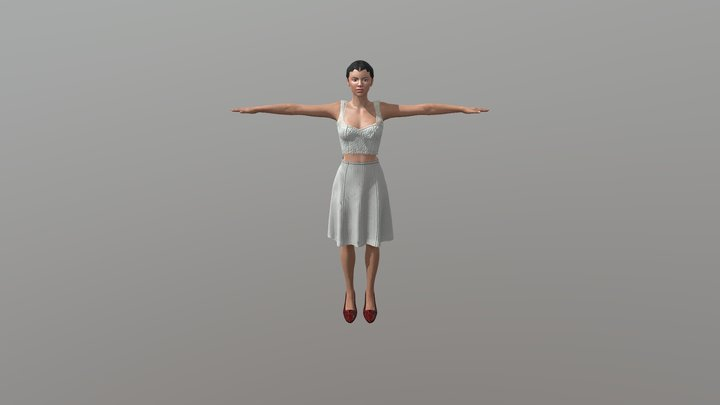 Cotton Club Dancer 1-a 3D Model