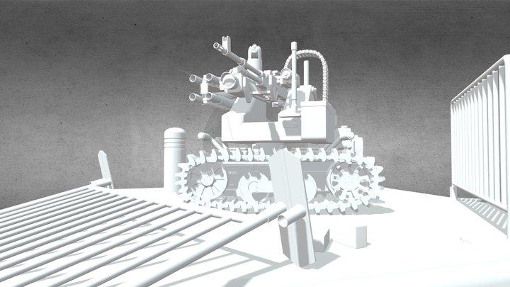 Talon MAARS (low poly) class assignment 3D Model