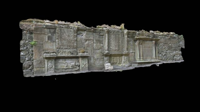 Old & St Andrew's Montrose Wall section 3D Model