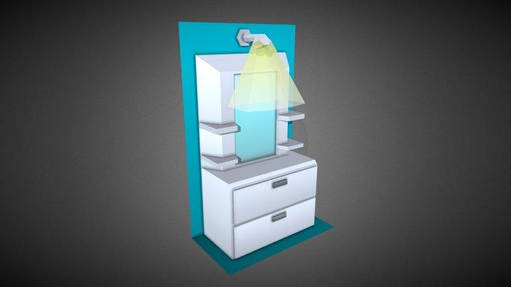 Dresser #HouseholdPropsChallenge 3D Model