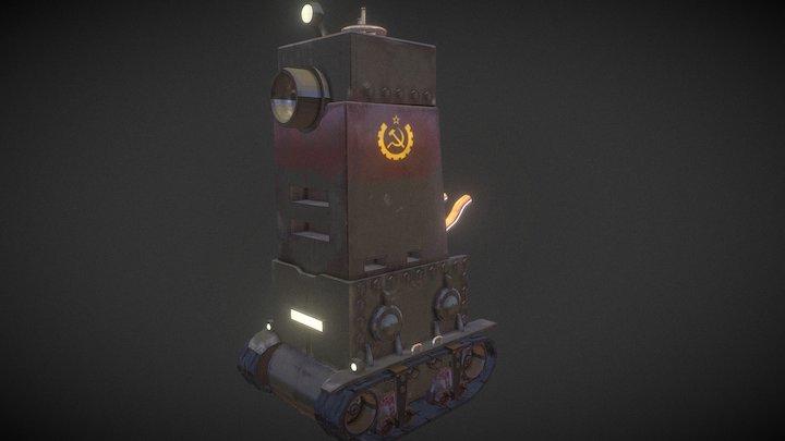 Soviet style Metal Slug tank 3D Model