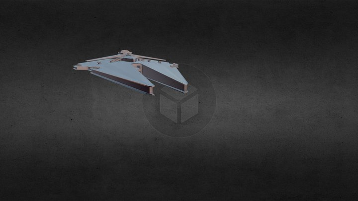 Harrower - Class Dreadnaught 3D Model