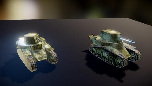 Tank MS-1 - Papercraft 3D Model