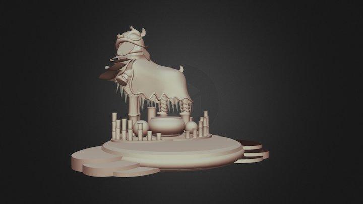 Lion dance 3D Model