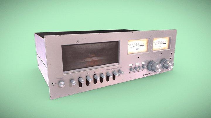 Pioneer Vintage Cassette Player 3D Model