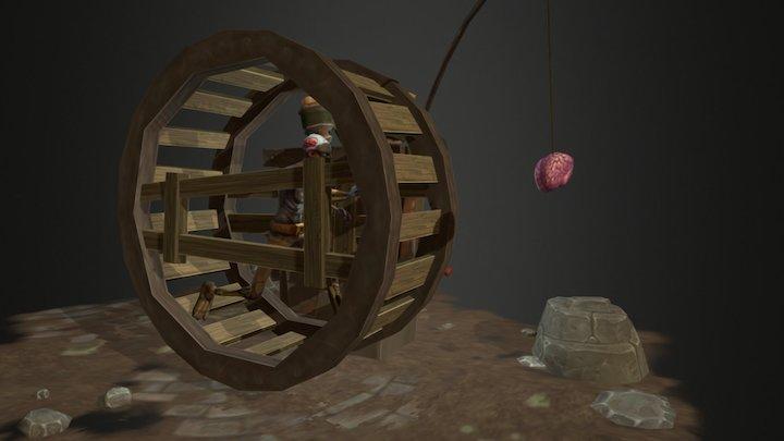 Zombie Wheel 3D Model