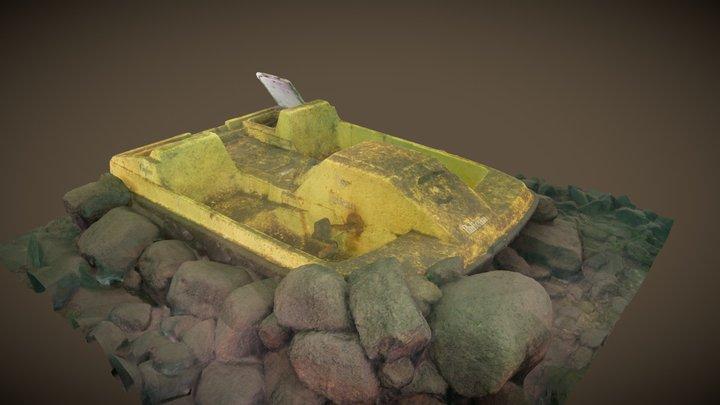 Pedalo du Lac des Piles 3D Model