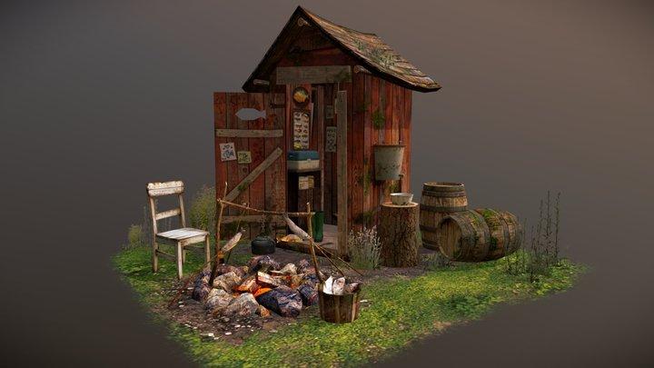 """5 Props Assignment """"Swamp Loner"""" 3D Model"""