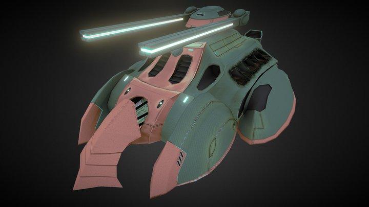 Hell Fire Tank 3D Model