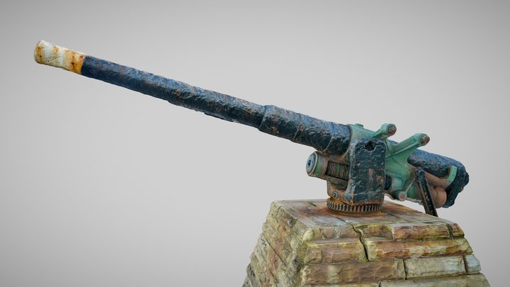 QF 12-pounder   Whitby Harbour 3D Model