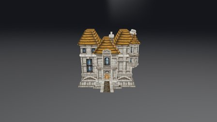 Stormwind Cathedral Quarter House 01 3D Model