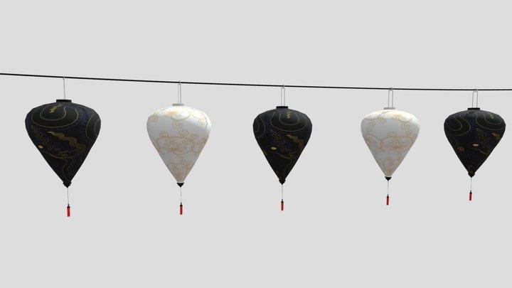 Long Lantern Line from Hoian 3D Model