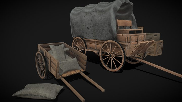 Wild West - Carriage 3D Model