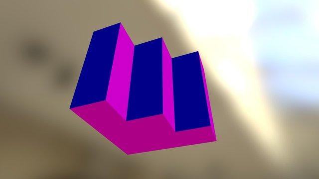 Treppe (in Farbe) 3D Model