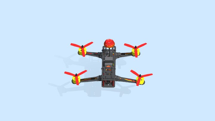 Fpv Racing Drone Quadcopter 3D Model