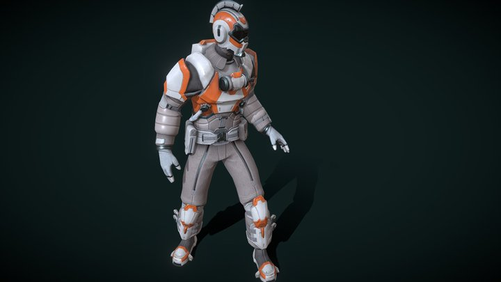 Space suit Skyforge 3D Model