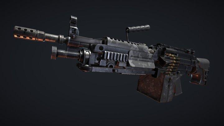FN Minimi 5.56 3D Model