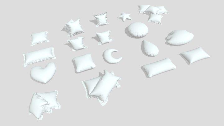 cushion Cushions pillow pillows collection sofa 3D Model