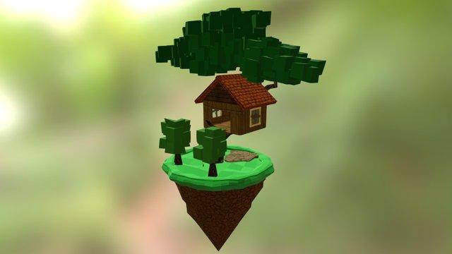Lowpoly Treehouse 3D Model