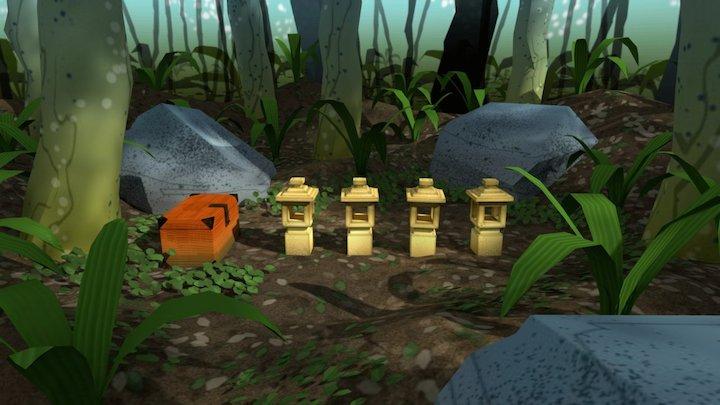 Jungle Lanterns 3D Model