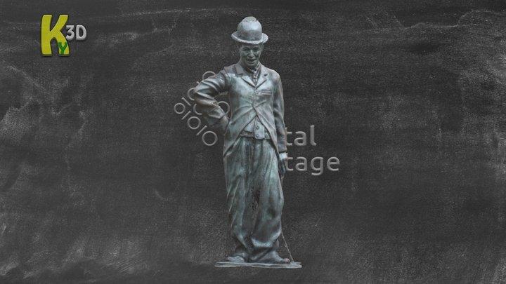 Charlie Chaplin - Waterville 3D Model