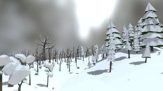 Forest Pack Winter 3D Model