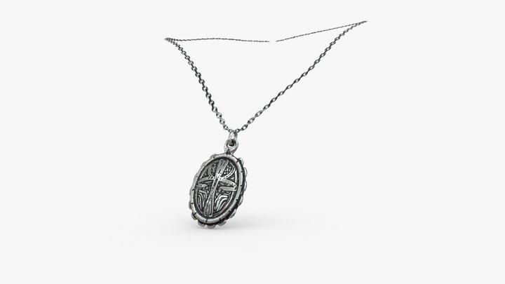Silver Locket Necklace 3D Model