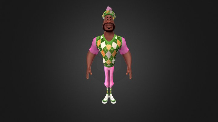 Caddy SHAQ Game – Shaquille O'Neal 3D Model