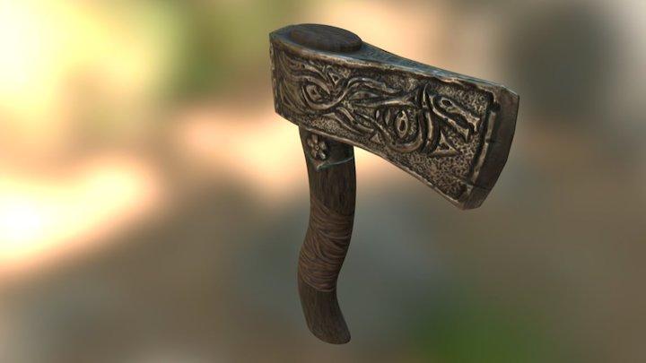 Ancient Artifact Axe 3D Model