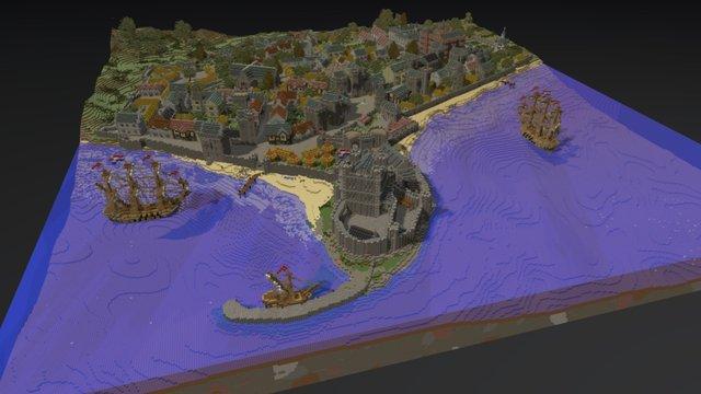 Carrickfergus - 1690 3D Model