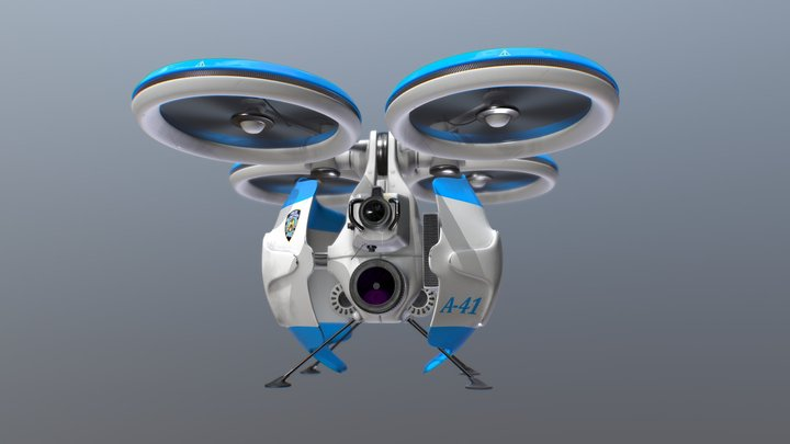 NYPD Surveillance Drone A-41 3D Model